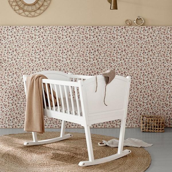 Oliver Furniture Seaside Nursery Rocking Baby Crib/Cradle in White