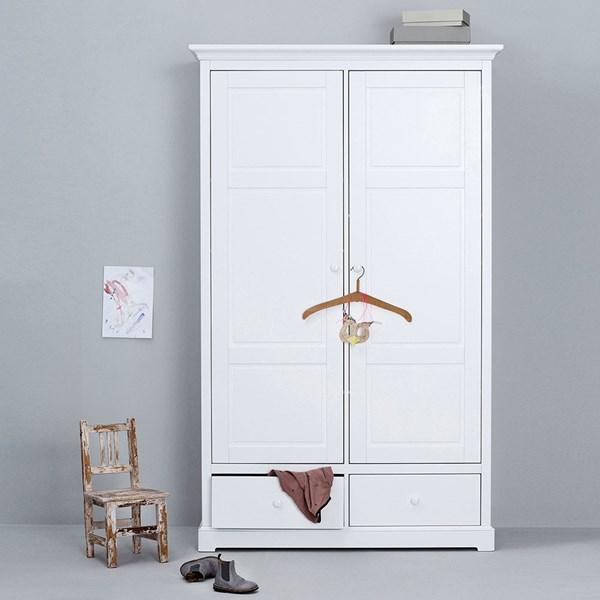 Oliver Furniture Seaside Children's Luxury 2 Door Wardrobe in White