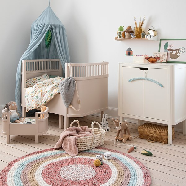 Birchbark Beige Cot Bed and Toddler Bed