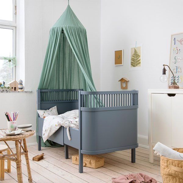 Sebra Expanding Cotbed to Junior Bed in Forest Blue