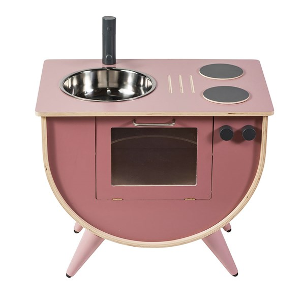 Sebra Wooden Play Kitchen in Vintage Rose