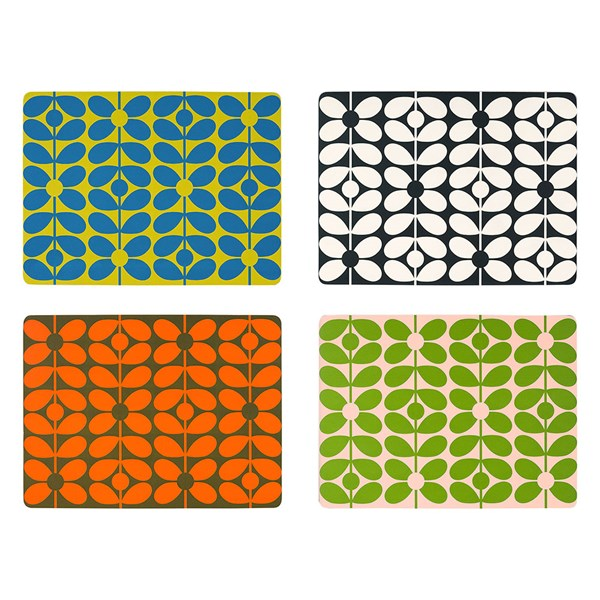 Orla Kiely Colourful Floral Table Mats