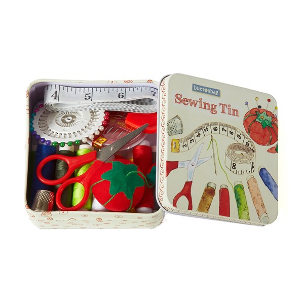 Quirky Sewing Kit in a Tin