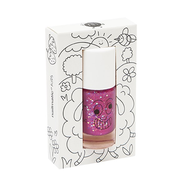Nailmatic Kids Nail Polish in Raspberry Glitter