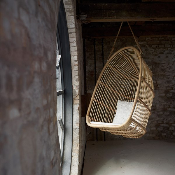 Sika Rattan Renoir Hanging Swing Chair in Natural