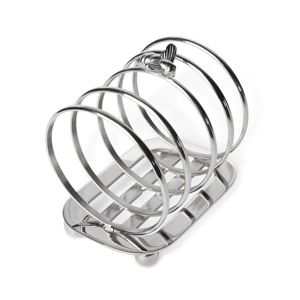 Toast Rack in Silver Plated Bee Design