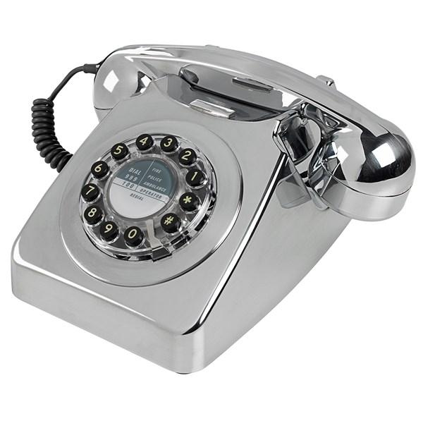 Retro Chrome Telephones