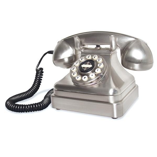 Lobby Silver Style Retro Telephone