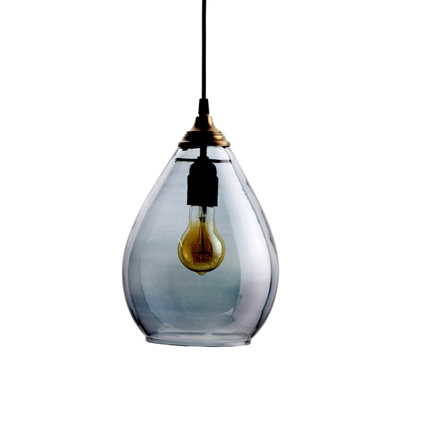 Teardrop Glass Ceiling Light in Grey