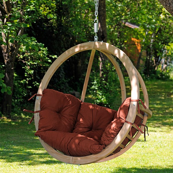 Globo Hanging Chair in Terracotta