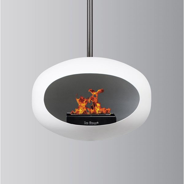 Le Feu Sky Bio Ethanol Fireplace in White