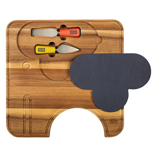 Orla Kiely Ela Elephant Cheese Board with Knives