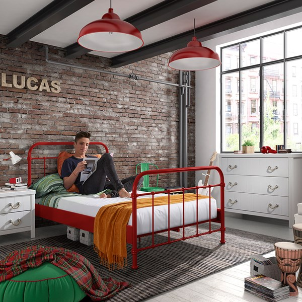 New York Small Double Kids Bed in Red