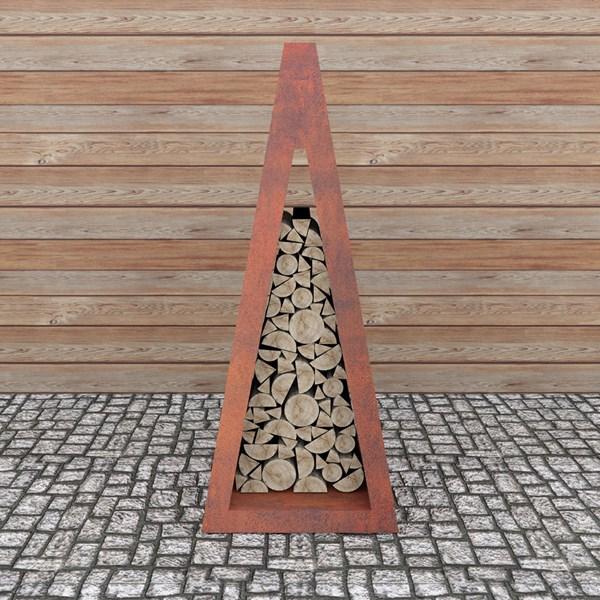 Quan Quadro Corten Wood Storage
