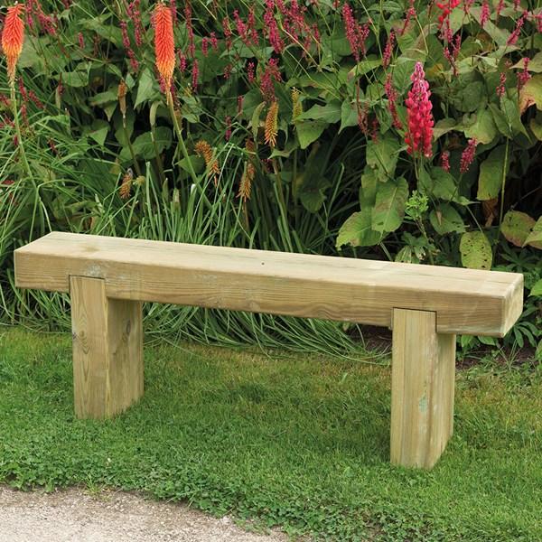 Forest Garden Sleeper Bench