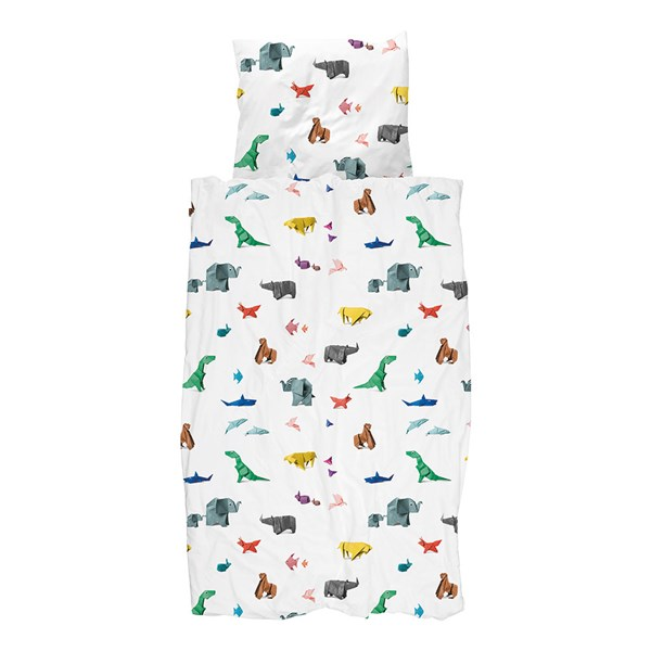 Snurk Childrens Origami Paper Zoo Duvet Bedding Set