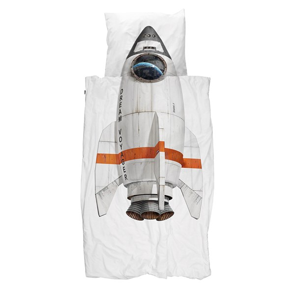 Snurk Childrens Rocket Duvet Bedding Set