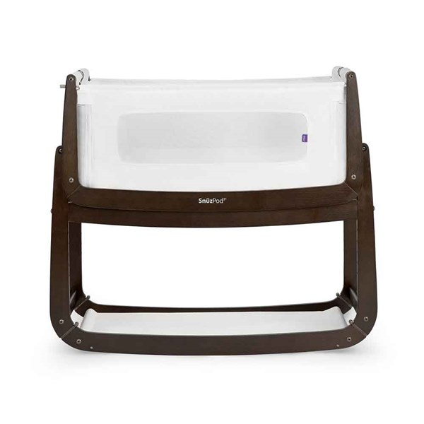 SnuzPod 3 Bedside Crib 3-in-1 with Mattress in Espresso Colour