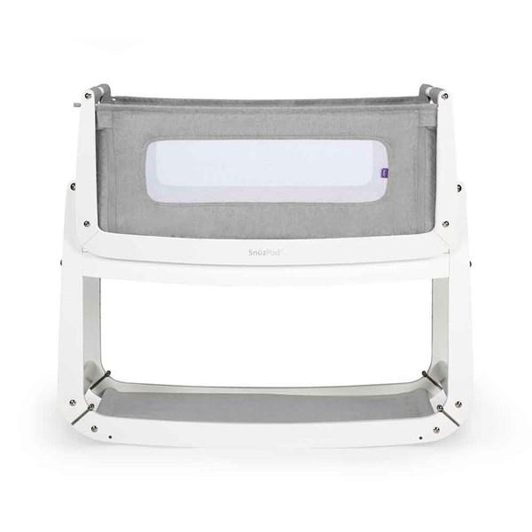 SnuzPod3 Bedside Crib 3-in-1 with Mattress in Dusk Grey