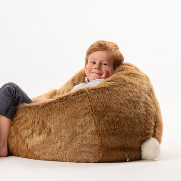 Kids Faux Fur Hare Bean Bag