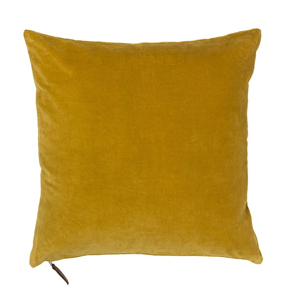 Soft Cotton Velvet Cushion in Curry