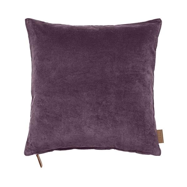 Soft Cotton Velvet Cushion in Grape