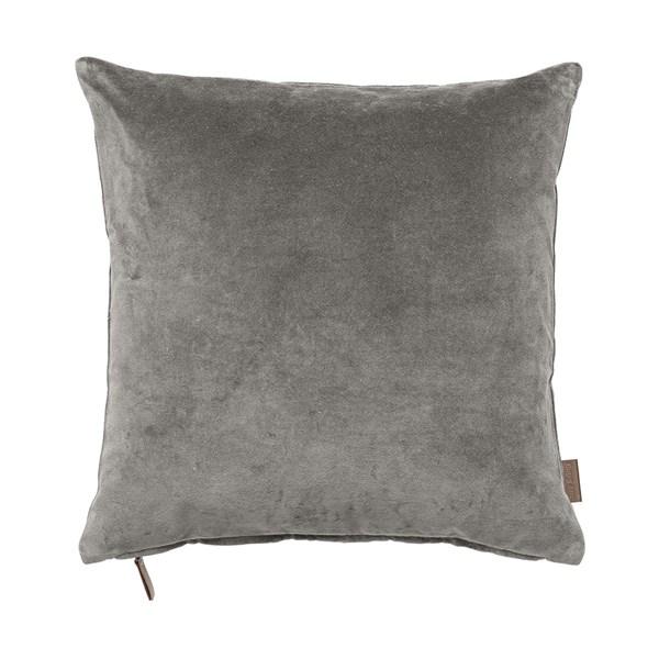 Soft Cotton Velvet Cushion in Mud