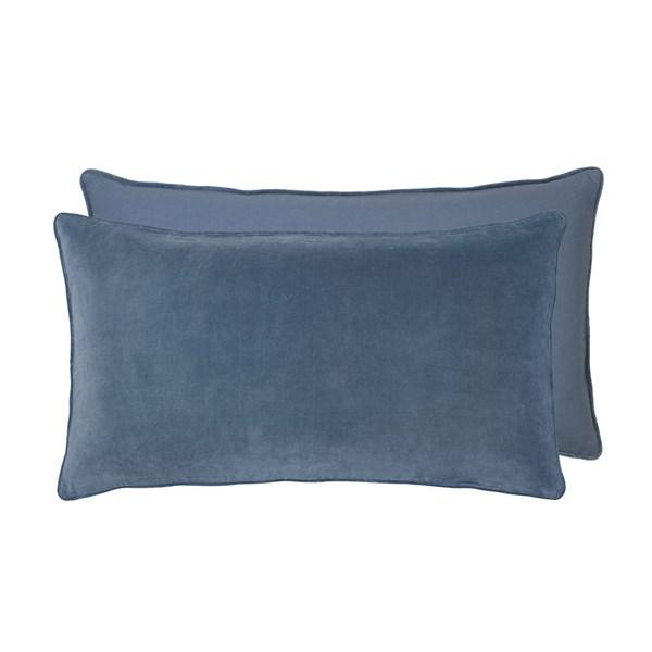 Soft Cotton Velvet Headboard Cushion in Ocean