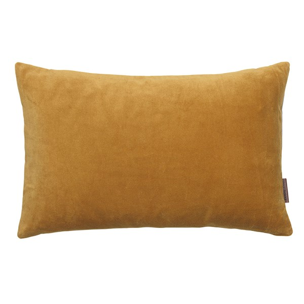 Small Soft Cotton Velvet Cushion in Dijon