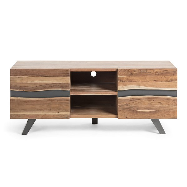 Irvin Acacia Wood TV Stand by La Forma