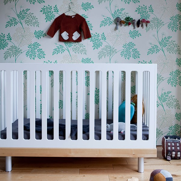 Oeuf Classic Cot Bed in White and Birch