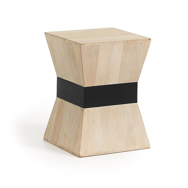 Hops Mango Wood Side Table by La Forma