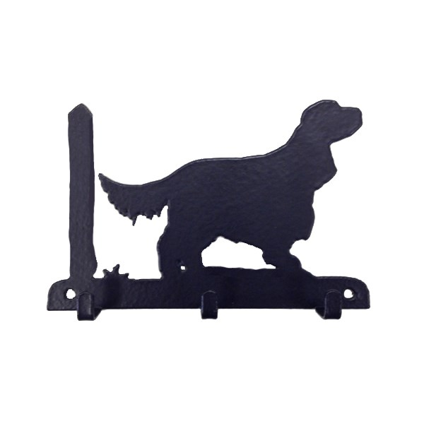 Key Rack with 3 Hooks in English Cocker Spaniel Design
