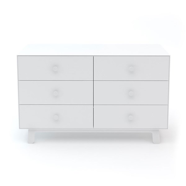 Oeuf Sparrow 6 Drawer Dresser in White