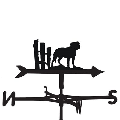 Weathervane in Staffordshire Terrier Design