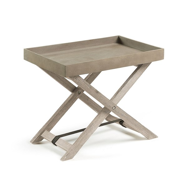 Stahl Folding Side Table with Removable Tray by La Forma