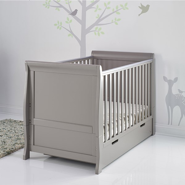 Stamford Cot Bed in Taupe Grey by Obaby