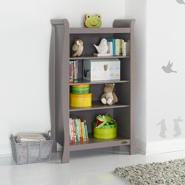 Kids Traditional Wooden Bookcase in Warm Grey