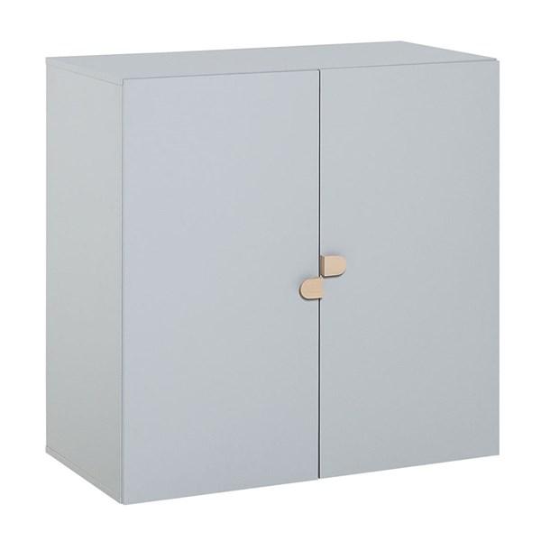 Vox Stige High 2 Door Cabinet in Grey