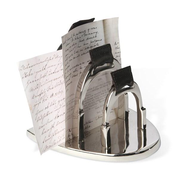 Letter Holder in Stirrup Design