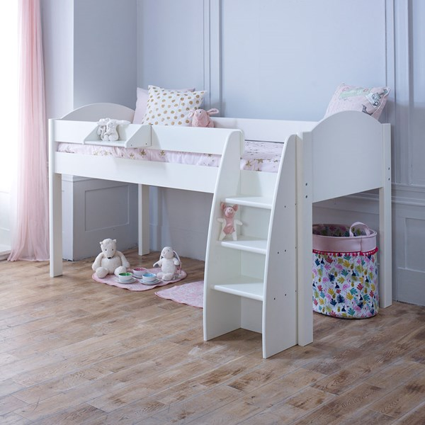 Rondo Kids Mid Sleeper Bed in White