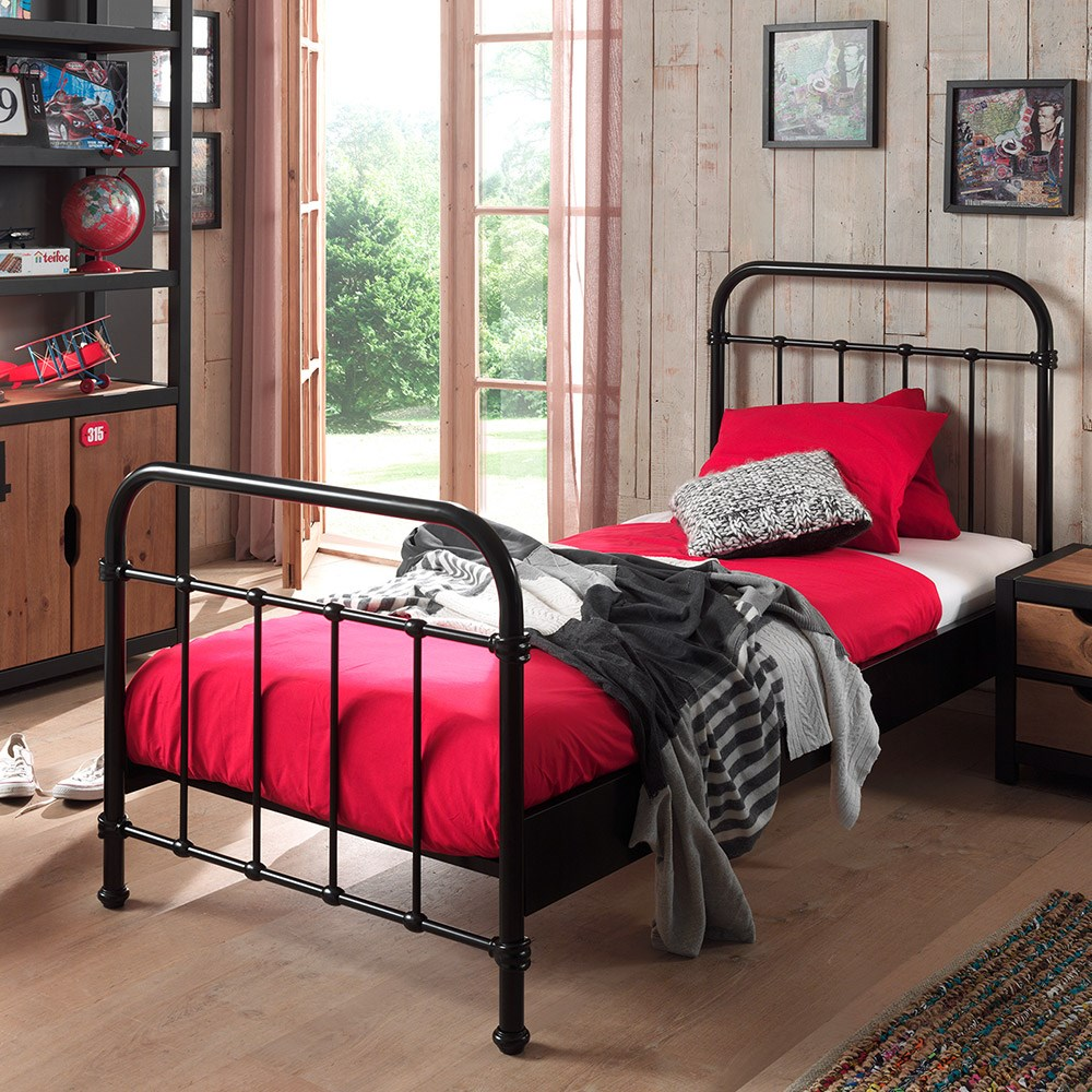 New York Metal Kids Bed In Black - Kids Beds | Cuckooland