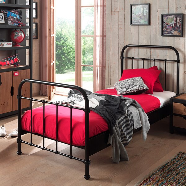 New York Metal Kids Bed in Black