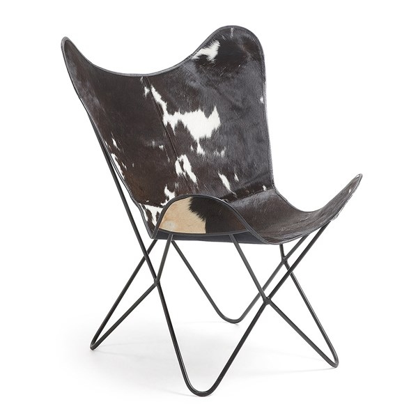 Flynn Cowhide Leather Chair by La Forma