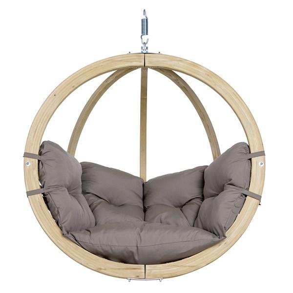 Globo Hanging Chair in Weatherproof Taupe