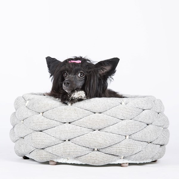 Laboni Riva Dog Bed in Light Grey