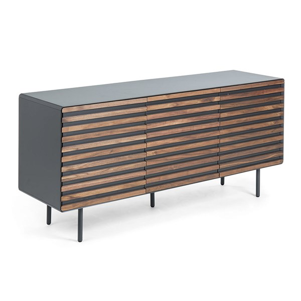 Mahon Large Sideboard in Walnut Veneer by La Forma