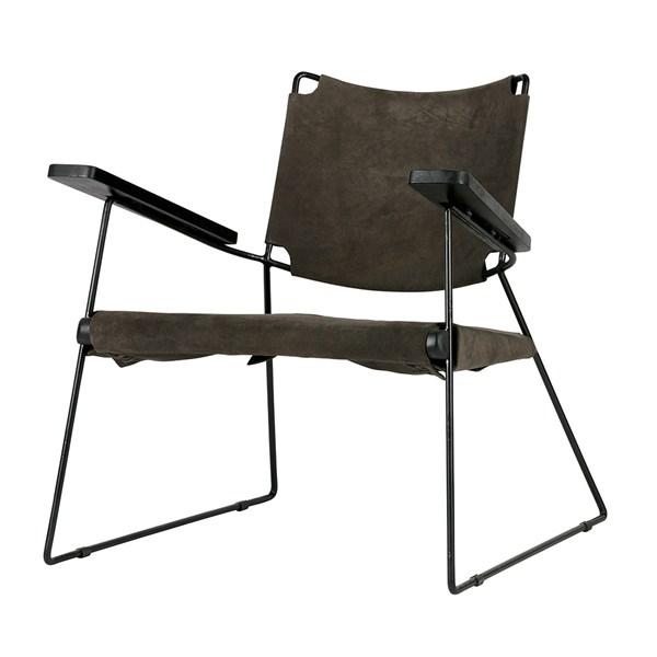 Future Suede Armchair in Warm Grey