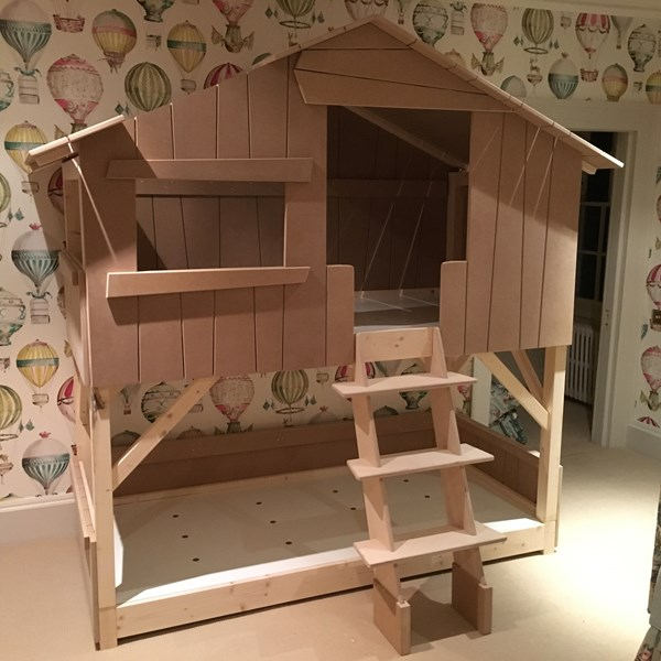 Mathy By Bols Childrens Treehouse Bunk Bed in Natural Pine & MDF