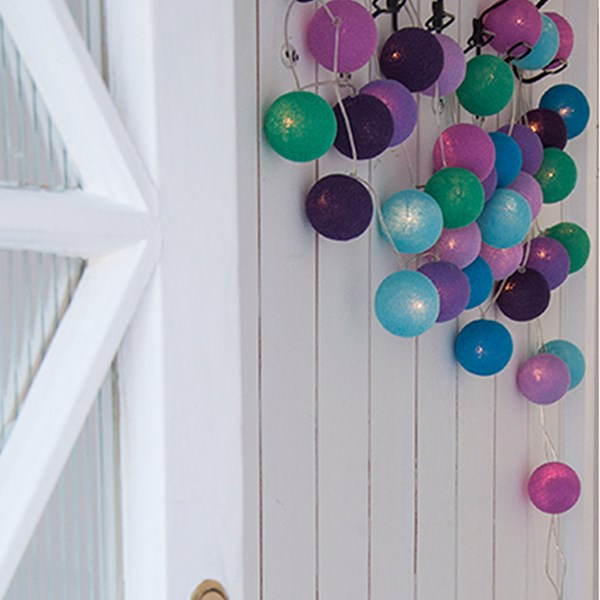 Cable and Cotton Sunday Times Cotton Ball Lights